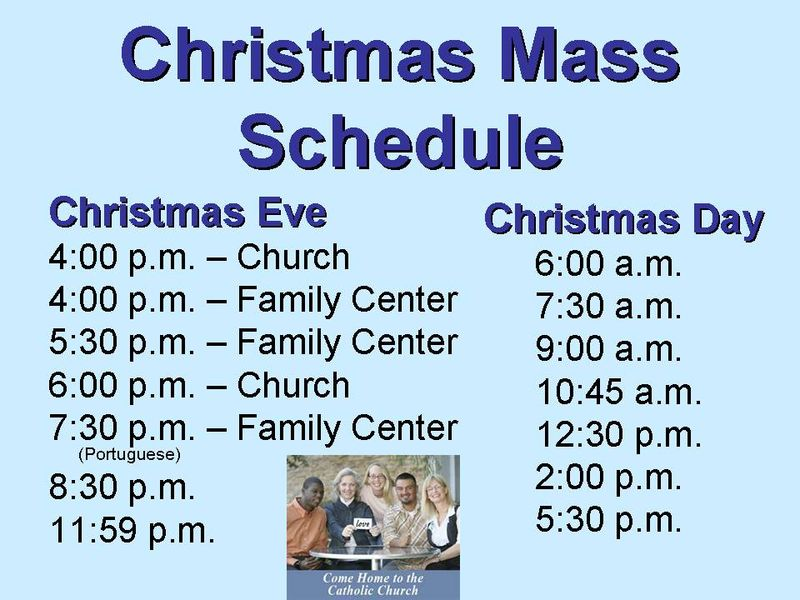Christmas 2011 Mass Schedule